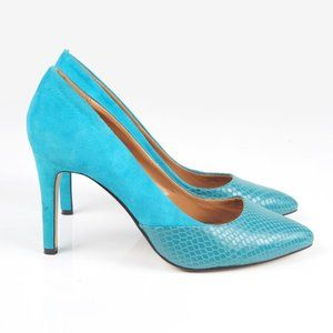 ELLE turquoise heels shoes new condition - Size 7 - Leather, Suede